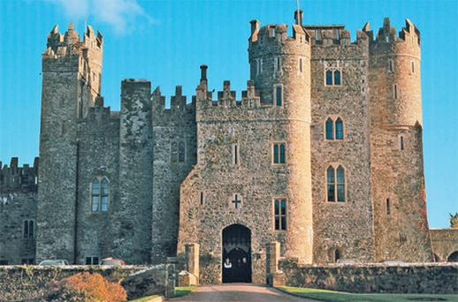 Stunning: The entrance to Kilkea Castle, Co Kildare, which is on the market for €6m