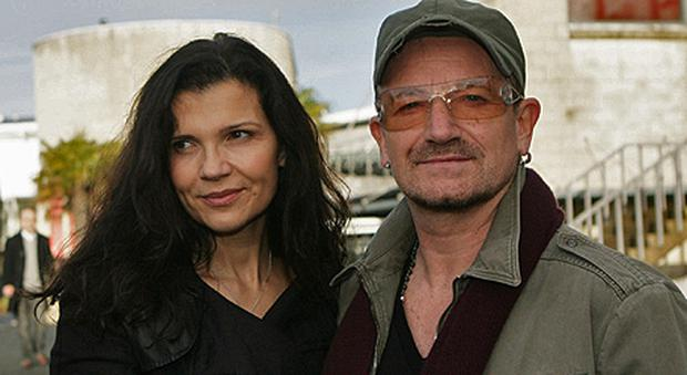 Bono with wife Ali Hewson. A luxury goods giant has just purchased 70pc of Ali's skincare business, Nude