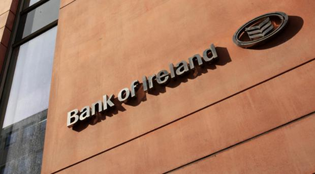 Bank of Ireland fell 3.77pc after it registered €1.9bn of notes from its mortgage-covered securities programme on the stock exchange in order to maintain levels of eligible collateral for European Central Bank loans. Photo: Getty Images