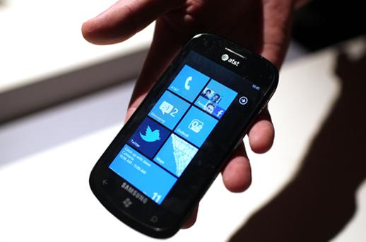 The update problem affects Samsung phones running Windows Phone 7. Photo: Getty Images