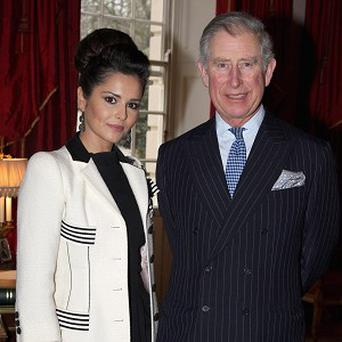 Cheryl Cole meets Prince Charles at Clarence House
