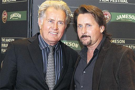 Martin Sheen and son Emilio Estevez at last night's Dublin Film Festival premiere of Sheen's latest film 'The Way', which was directed by Estevez