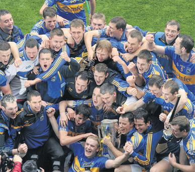 Tipperary players celebrate winning the All-Ireland SHC title last year after the county board invested heavily to create an environment for success.