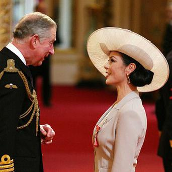 Catherine Zeta Jones has been made a Commander of the British Empire (CBE)