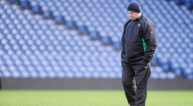 Declan Kidney: 'You need to box clever at the start.' Photo: Sportsfile