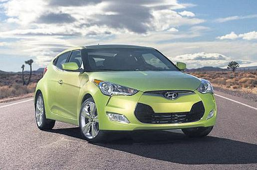 Hyundai's Veloster coupe — which has an unusual door configuration