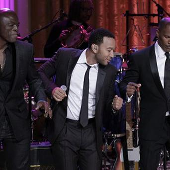 Seal, John Legend, and Jamie Foxx performed a medley