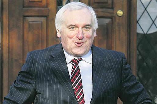 Bertie Ahern at his home on Griffith Avenue, Dublin, yesterday