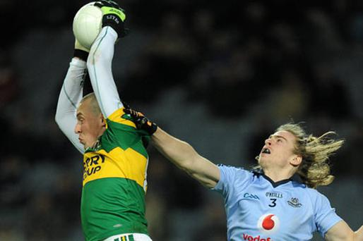 Kieran Donaghy fields a ball against Dublin but Kerry looked one-dimensional during parts of last week's game