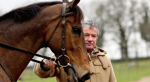 Nigel Twiston-Davies with Imperial Commander. Photo: Getty Images