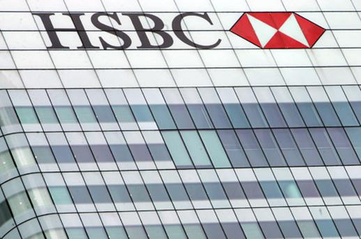 HSBC fell 2.9pc, leading bank shares down. Photo: Getty Images