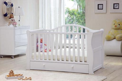 <p><b>Sleigh bed</b></p><p>This Oslo sleigh bed is not just a cot, it is also a striking piece of furniture. When your child is old enough, it also transforms into a junior bed with a protective bed rail and under-bed storage drawer. &euro;329, from Bella Baby, Unit 3, Oranpoint Commercial Centre, Main St, Oranmore, Co Galway, t: 091 483718, www.bellababy.ie</p>