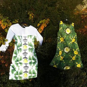 Dr Karen Ingham's frocks have been designed to highlight the plight of pollinating insects