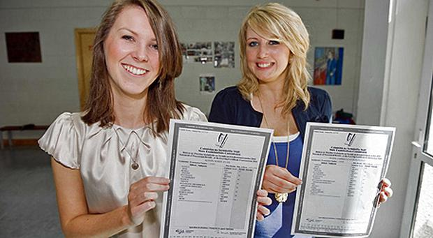 Roisin Ryan and Gabrielle O'Donoghue, students at Loreto Secondary School, Fermoy, Co Cork, both received 8 A1s in their Leaving Cert