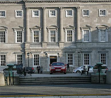 New Fine Gael TD Mary Mitchell O'Connor takes a wrong turn at Leinster House driving on to the plinth
