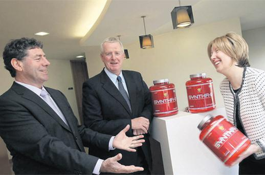 Announcing full year results for the year ended 1st January, 2011 for Glanbia were chairman Liam Herlihy, group managing director John Moloney, and finance director Siobhan Talbot