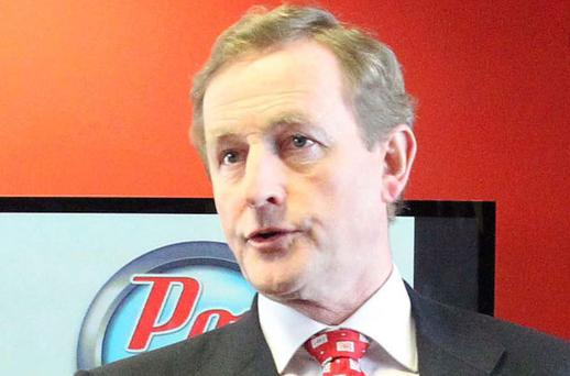 Enda Kenny still has the option of leading Fine Gael in a minority government. Photo: Collins