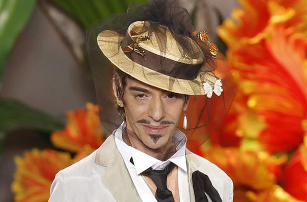 British designer John Galliano. Photo: Reuters