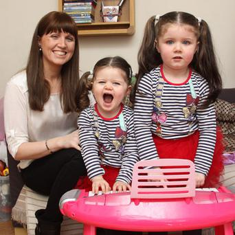 Social network: Aisling Dalton with Isabella and Ava