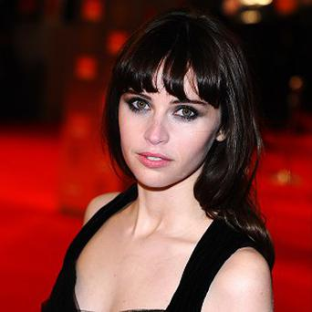 Felicity Jones found learning to snowboard very difficult
