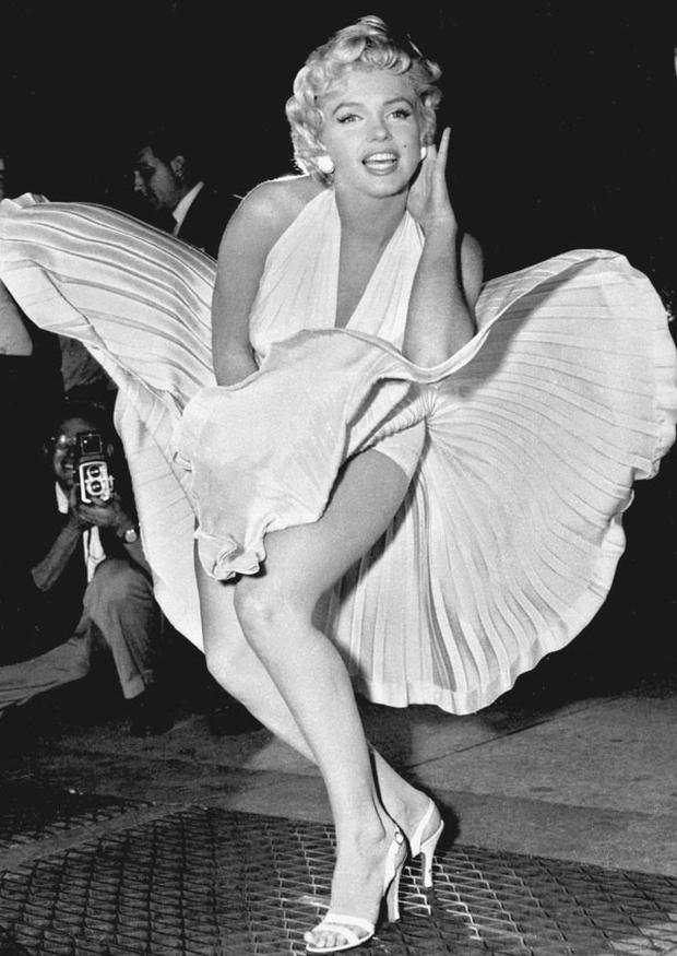 Marilyn Monroe poses over the updraft of a New York subway grating. Photo: AP