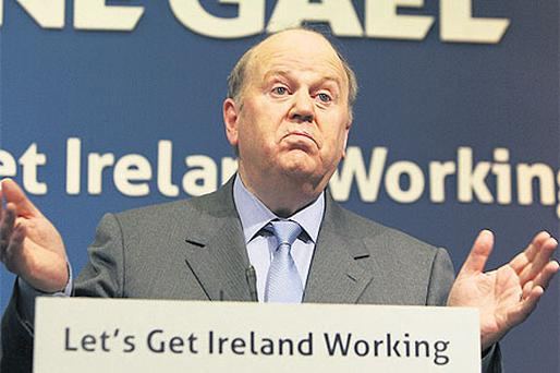 Fine Gael's Michael Noonan is tipped for the post at the most powerful department in the State