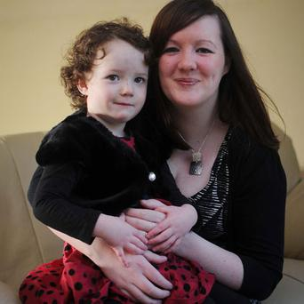 Devoted mother: Chris Finn breastfed her daughter Eliza for two and a half years. Photo by Patrick Hogan.