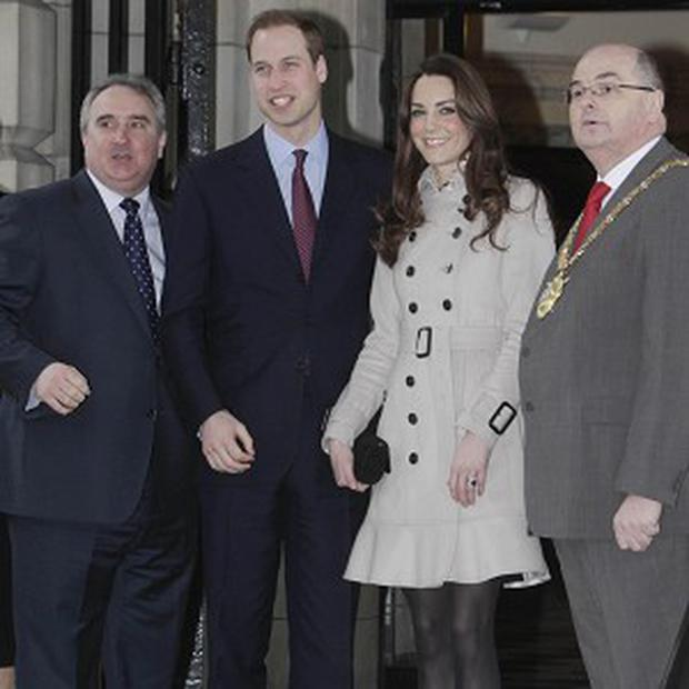 Prince William and Kate Middleton at Belfast City Hall