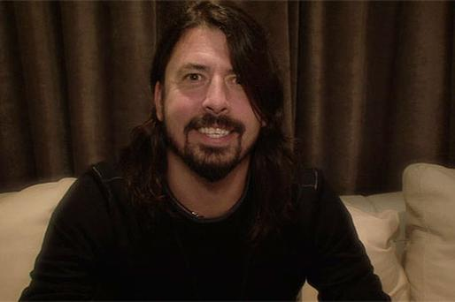 Rock star Dave Grohl announcing the line-up for Oxegen 2011 live on the internet last night