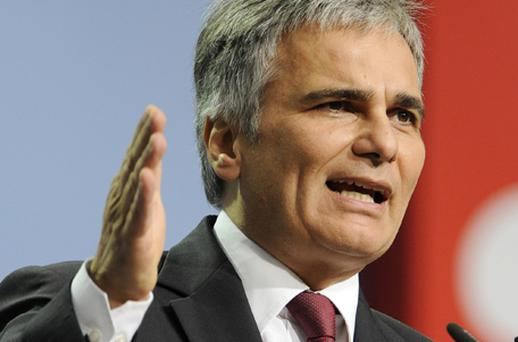 Austrian Chancellor Werner Faymann. Photo: Getty Images