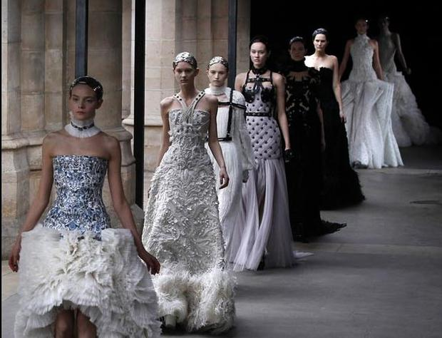 Alexander McQueen a/w 2011 collection Paris fashion week. Photo: Getty Images