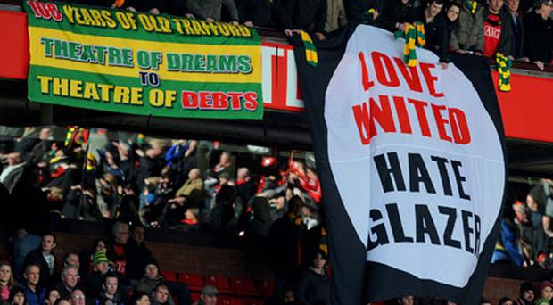 The Glazer family's ownership of Manchester United has often sparked protests by the club's supporters. Photo: Getty Images
