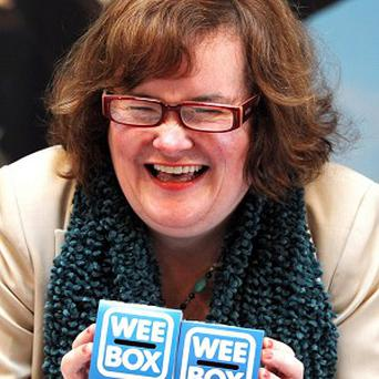 Susan Boyle helped launched the Wee Box, Big Change campaign