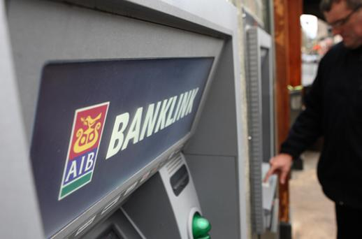 Allied Irish Banks dropped 7.2pc to 23c after circulating its restructuring plan to staff. Photo: Getty Images