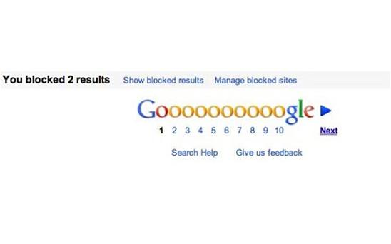 Google now lets users block specific websites from their search results