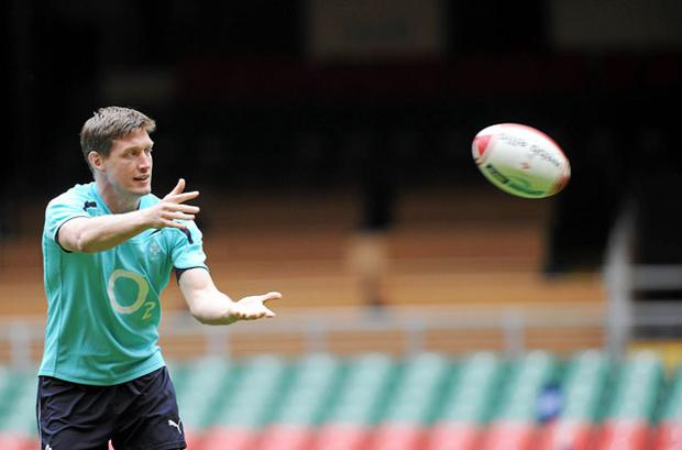 Wales are sure to attack from the kick-off in Cardiff which is why Ronan O'Gara's safe pair of hands will be so important for Ireland. Photo: Sportsfile