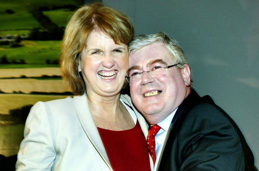 Joan Burton and Eamon Gilmore