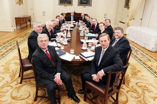 NEW STRINGS TO THE BOW: Enda Kenny's new Cabinet. Photo: Collins