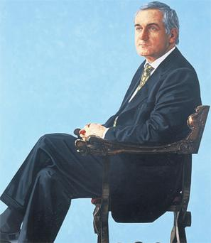Mr Ahern's portrait will hang alongside those of Eamon de Valera and John Bruton