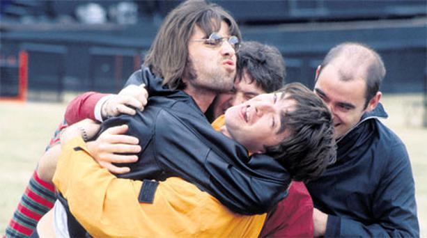 Brotherly battles: Liam and Noel Gallagher, who had the world at their feet as part of the band Oasis, are well known for not getting on together.