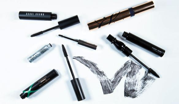 Pictured, clockwise from top left: Bobbi Brown Lash Glamour Extreme Lengthening Mascara; Estee Lauder Sumptuous Extreme Mascara; Mac False Lashes; Max Factor Xperience Volumising Mascara; Clinique Bottom Lash Mascara