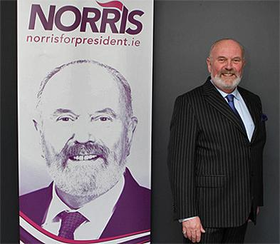 Independent Senator David Norris during his launch for his campaign for the presidency, at the Science Gallery, Pearse Street, Dublin. Photo: PA