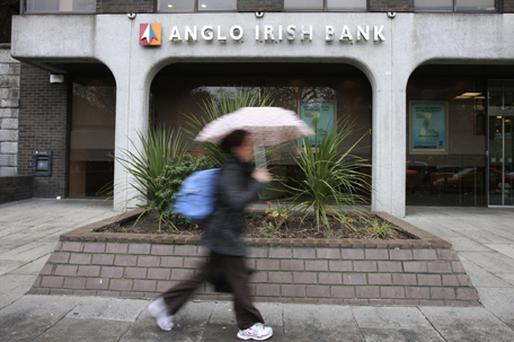 Senior Anglo Irish Bank bonds not covered by government guarantees fell by as much as 2pc of face value yesterday, driving up yields. Photo: Getty Images