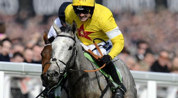 Ruby Walsh riding Al Ferof win The Stan James Supreme Novices' Hurdle. Photo: Getty Images