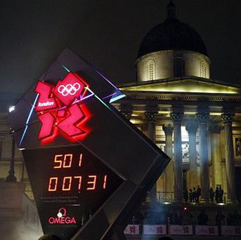 The official clock for the 2012 Olympic Games stopped early