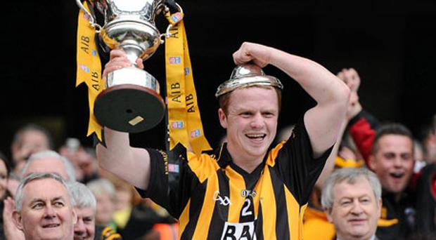 Crossmaglen captain Paul McKeon lifts the Andy Merrigan Cup after defeating St Brigid's in yesterday's All-Ireland club final. Photo: Brendan Moran / Sportsfile