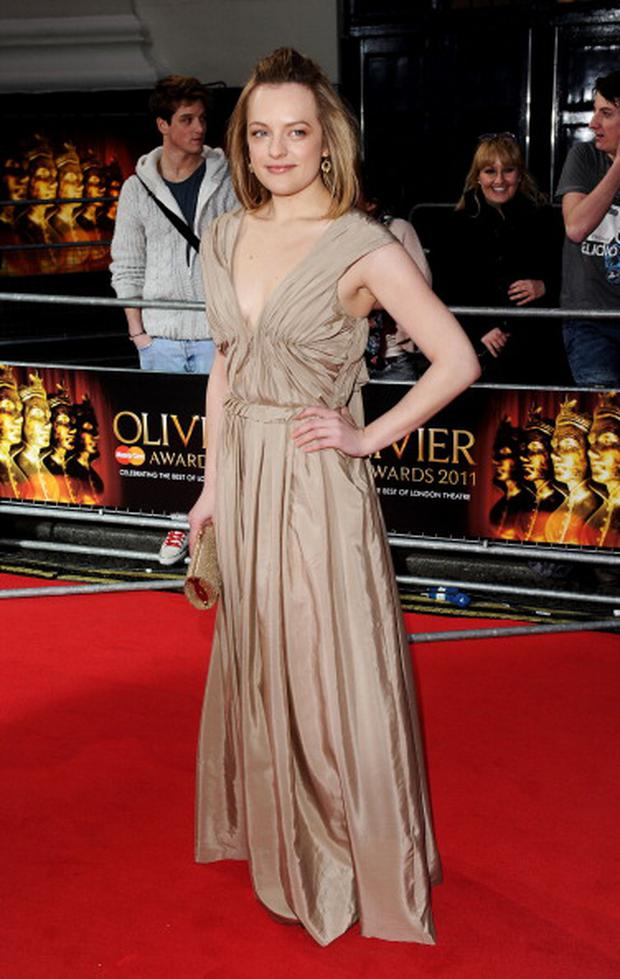 LONDON, ENGLAND - MARCH 13: Actress Elisabeth Moss attends The Olivier Awards 2011 at Theatre Royal on March 13, 2011 in London, England. (Photo by Ian Gavan/Getty Images)