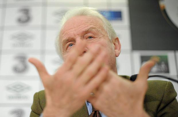 Republic of Ireland manager Giovanni Trapattoni during the squad announcement ahead of their upcoming EURO2012 championship qualifier against Macedonia. Photo: Sportsfile