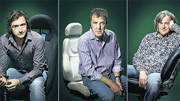 Richard Hammond, Jeremy Clarkson and James May of 'Top Gear'