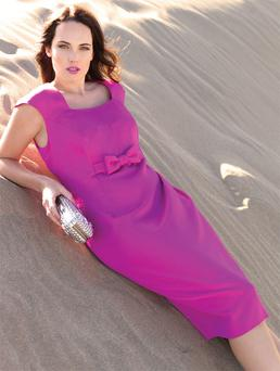 Dress, €185, Michael H Personal Choice. Ring; bag, both stylist's own